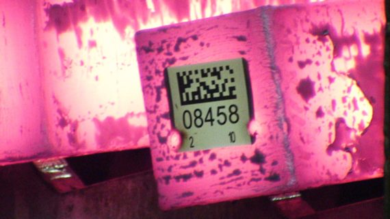 STS5000_00 MIG tag MIG welded on hot billet